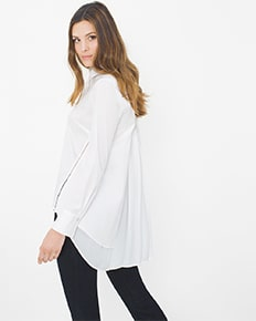 Pleat-Back Poplin Shirt