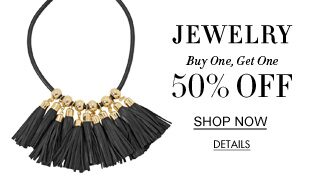 Jewelry. Buy One, Get One 50% Off. Shop Now