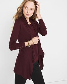 Draped-Collar Sweater