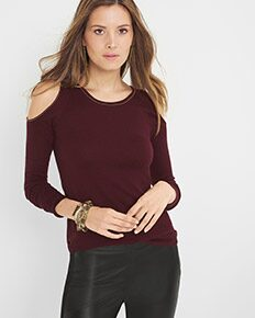 Cold-Shoulder Sweater