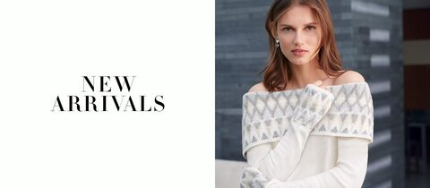 New Arrivals - Off-the-Shoulder Fair Isles Sweater