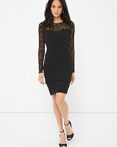 Black Illusion-Lace Instantly Slimming Dress
