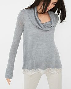 Cowlneck Knit Top