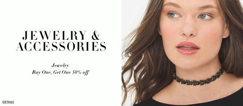 Jewelry and Accessories. Buy one, Get One 50% Off .Click for details.