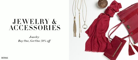 Jewelry. Buy one, Get One 50% Off .Click for details.