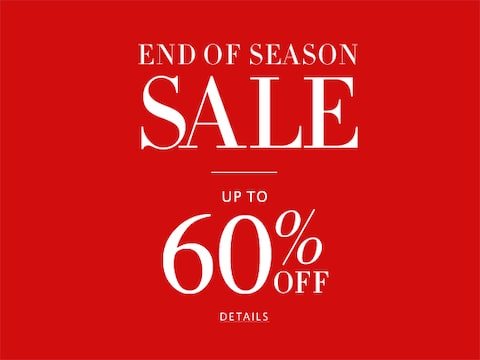 End of season sale | up to 60% off | click for more details
