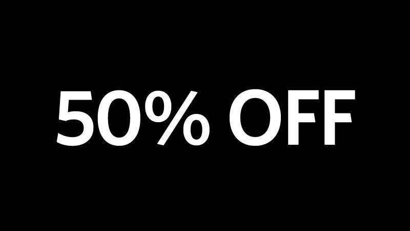 50% Off. Part 90