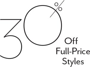 30% Off Full-price Styles