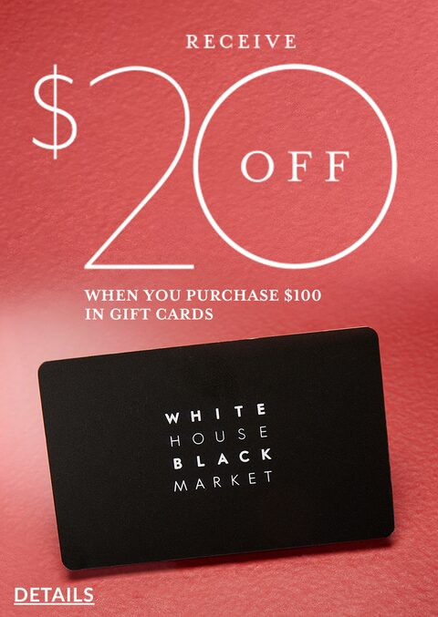 Receive $20 Off When You Purchase $100 in Gift Cards. Details.