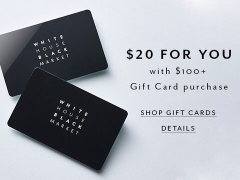 $20 For You. With $100+ Gift Card Purchase. Shop Gift Cars. Details.