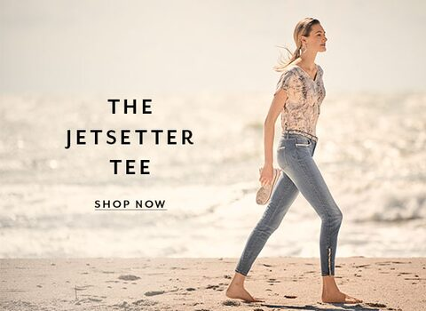 The Jetsetter Tee. Shop Now.