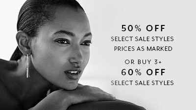 50% Off Select Sale Styles. Prices as marked. or buy 3 + 60% off select sale styles.