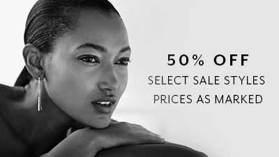 50% Off Select Sale Styles. Prices as marked.