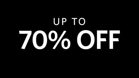 Up to 70% off.