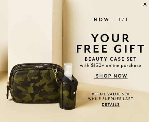 Now - 1/1, Your Free Gift, Beauty Case Set With $150+ online purchase