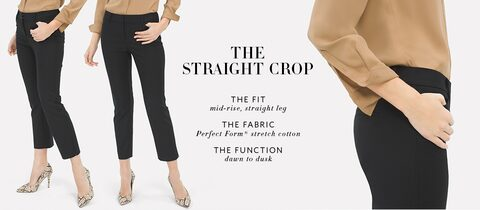 The straight crop | The fit - mid-rise, straight leg | The fabric - Perfect Form® stretch cotton | The function - dawn to dusk